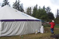 Product Description For Vinyl Tents Miami Missionary Tent