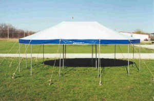 21' x 27' oval tent