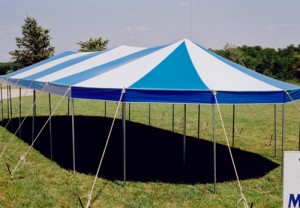 21' x 57' oval tent
