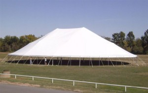 100' x 130' oval tent
