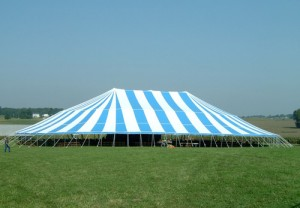 125' X 173' oval tent