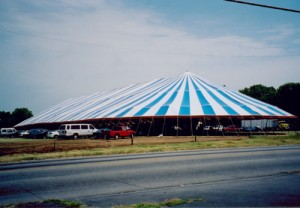 125' x 341' oval tent