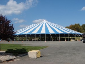 154' x 190' oval tent
