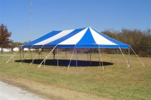 30' x 52' oval tent