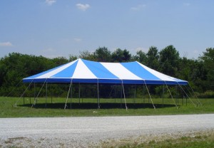 31' X 49' oval tent