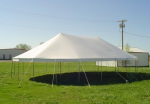 36' x 58' oval tent