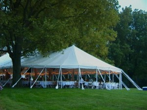 38' x 86' oval tent