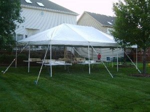 20' x 30' rectangle tent