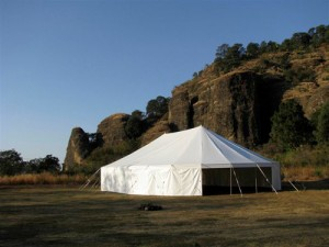 48' x 70' oval tent