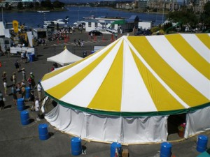 48' X 91' oval tent
